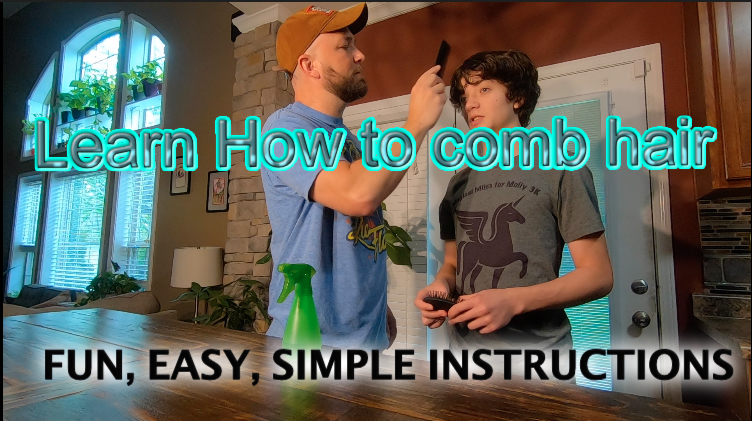 How to Thursday.... Learn how to Comb your hair.  Easy Instructions 1